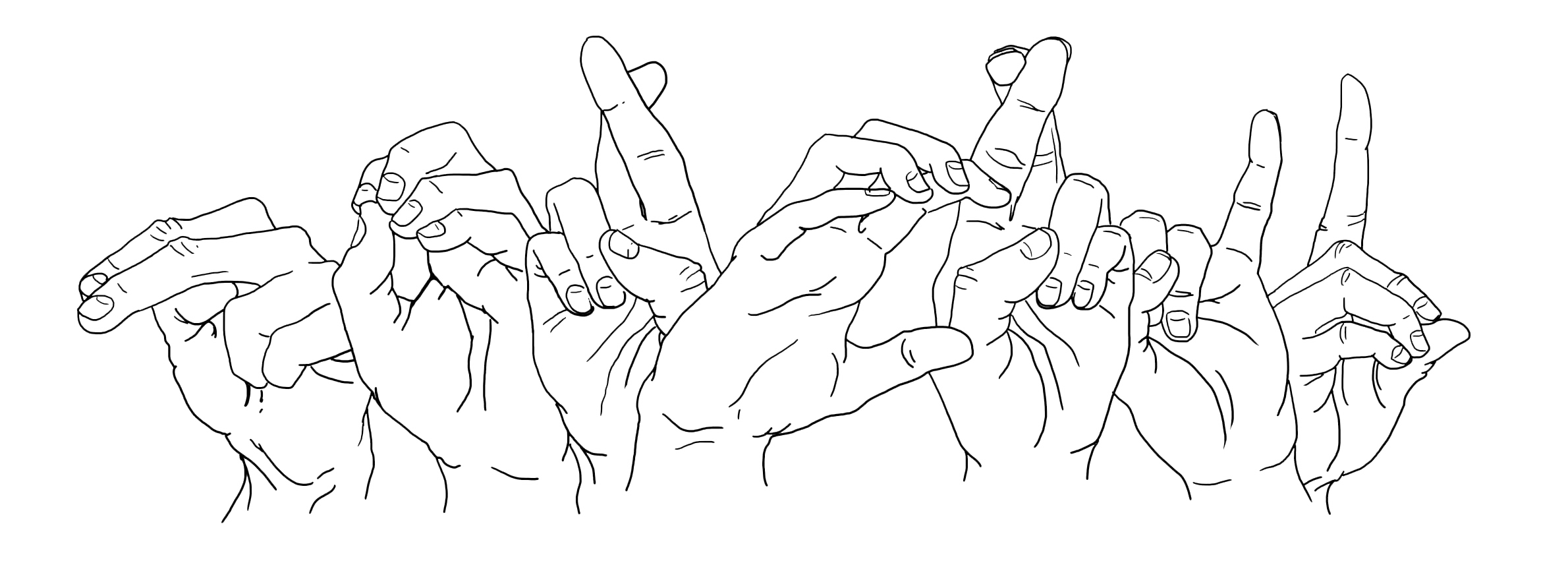 outlined hands fingerspelling norcrid- image created by Carmen Olson